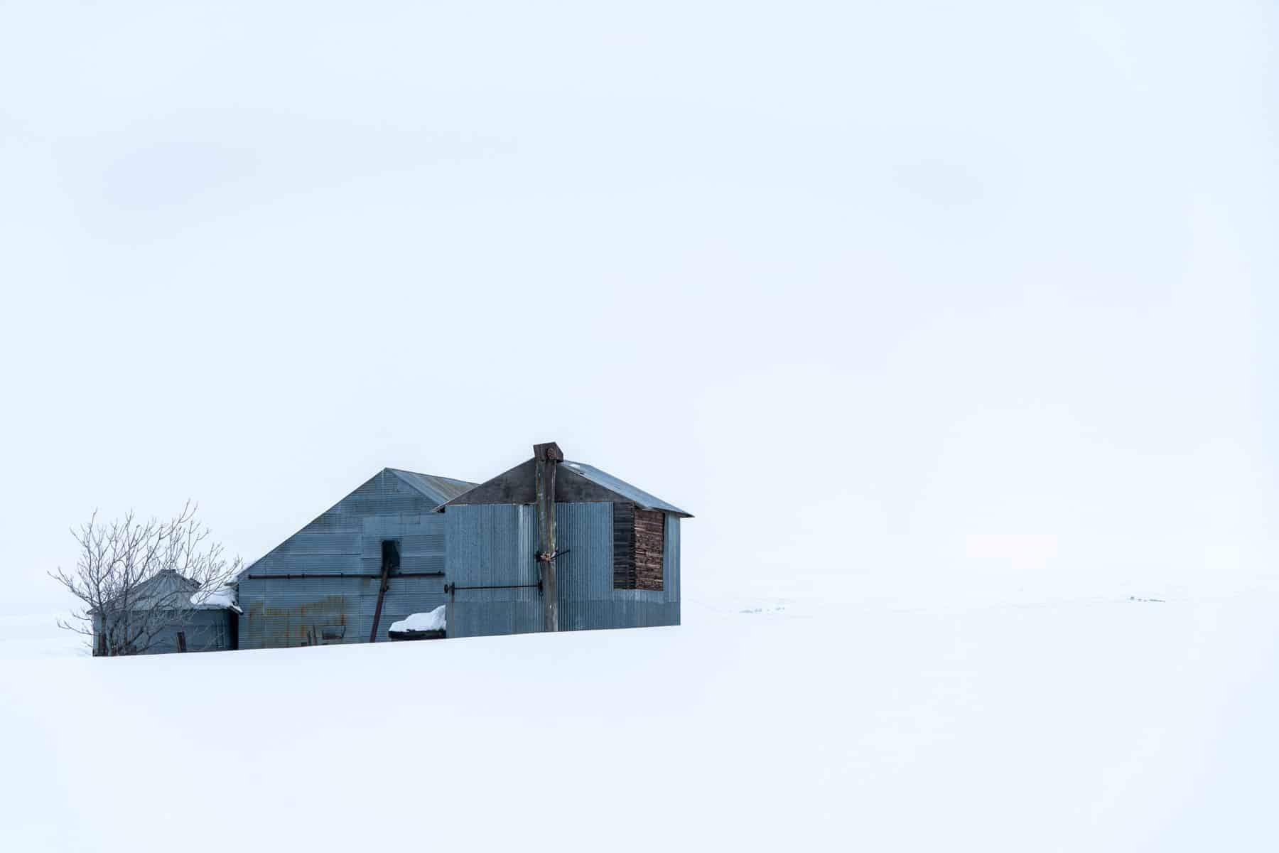 Barn on White