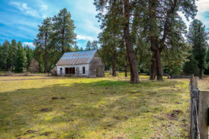 A schoolhouse from the 1800's, in a field forgotten in Washington, USA.