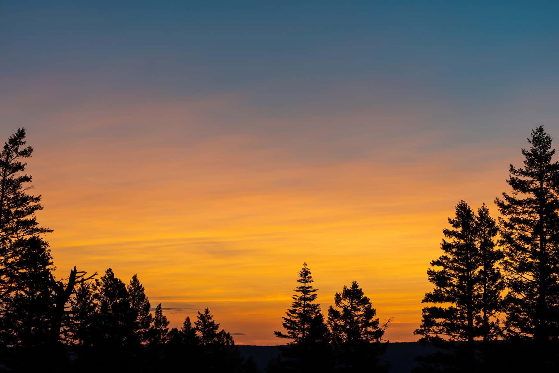 Sunrise over Idaho